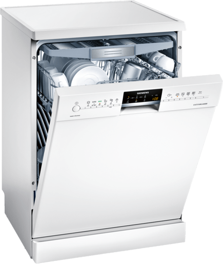 speedmatic 60 cm dishwasher freestanding white sn26m295gc siemens. Black Bedroom Furniture Sets. Home Design Ideas