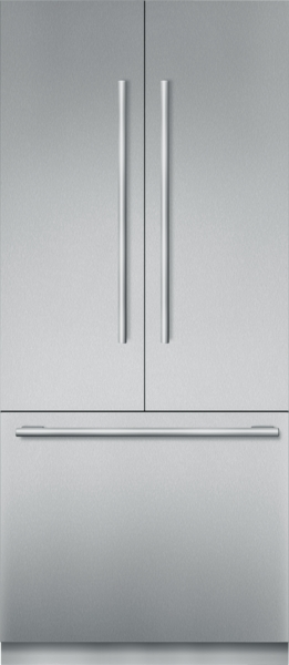 36   Inch Stainless Steel Built In French Door Bottom Freezer,  Pre Assembled,