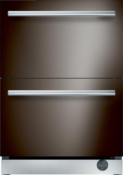 24 Inch Under Counter Double Drawer Refrigerator Freezer