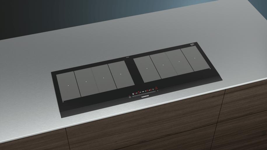 siemens ex275fxb1e electronic display 90 cm domino flex induction hob cooking zone ceramic. Black Bedroom Furniture Sets. Home Design Ideas