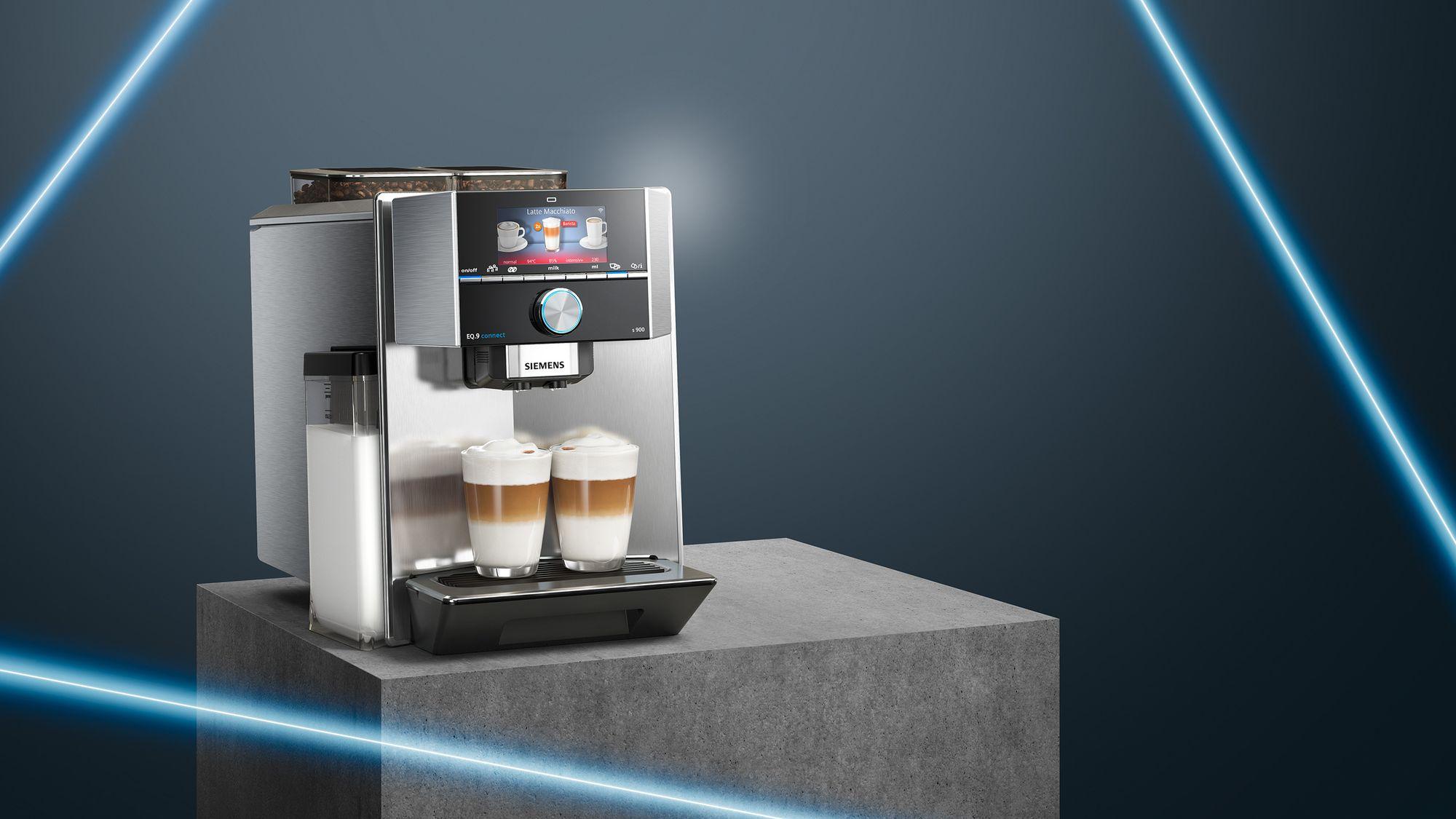Kávovary s mlynčekom Siemens s Home Connect.