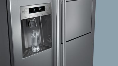 Side By Side Kühlschrank Direkt An Wand : Typisch amerikanisch der side by side kühlschrank