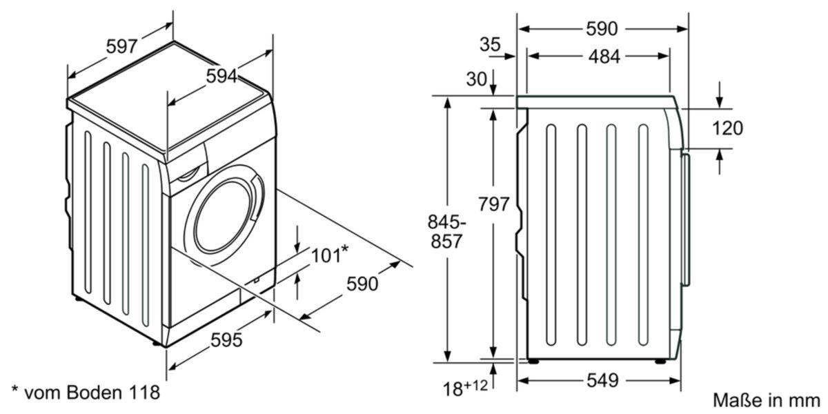SIEMENS - WM14E443 - Waschmaschine, Frontlader