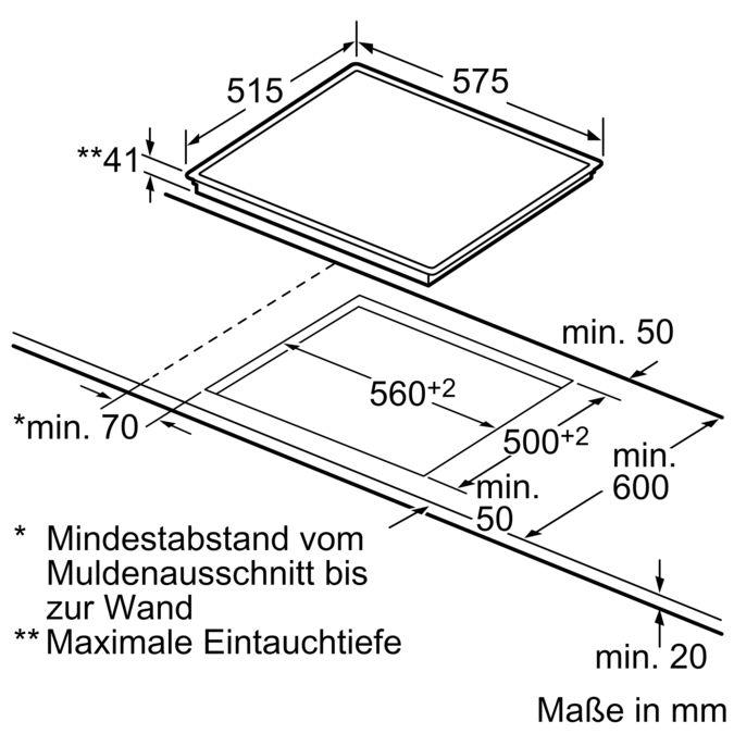Top SIEMENS - EA645GN11 - 60 cm Kochfeld, Glaskeramik VR23
