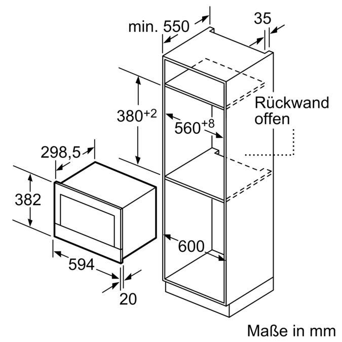 SIEMENS BF634LGW1 Einbau Mikrowelle