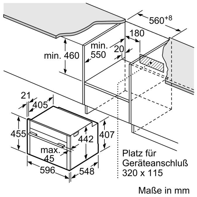 NEFF Kompakt Backofen mit Mikrowelle CMS1722NMC Edelstahl