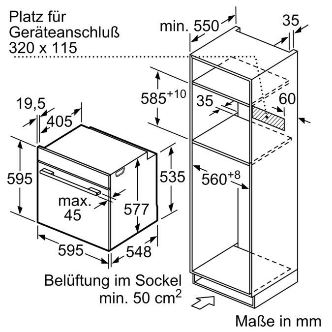 SIEMENS HM876G2B6 Einbau Backofen mit Mikrowellenfunktion