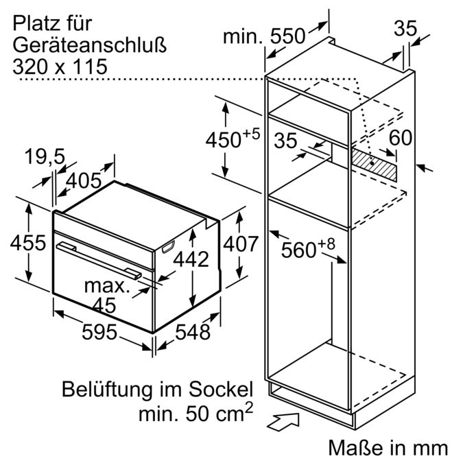 SIEMENS CN678G4S6 Kompaktbackofen mit Mikrowelle