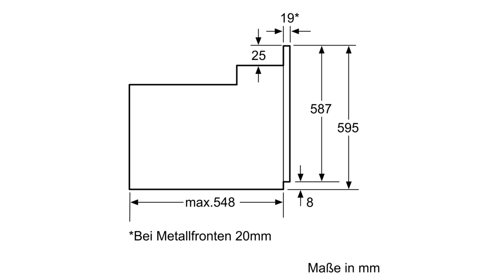 SIEMENS HB63AB521J Einbau Backofen