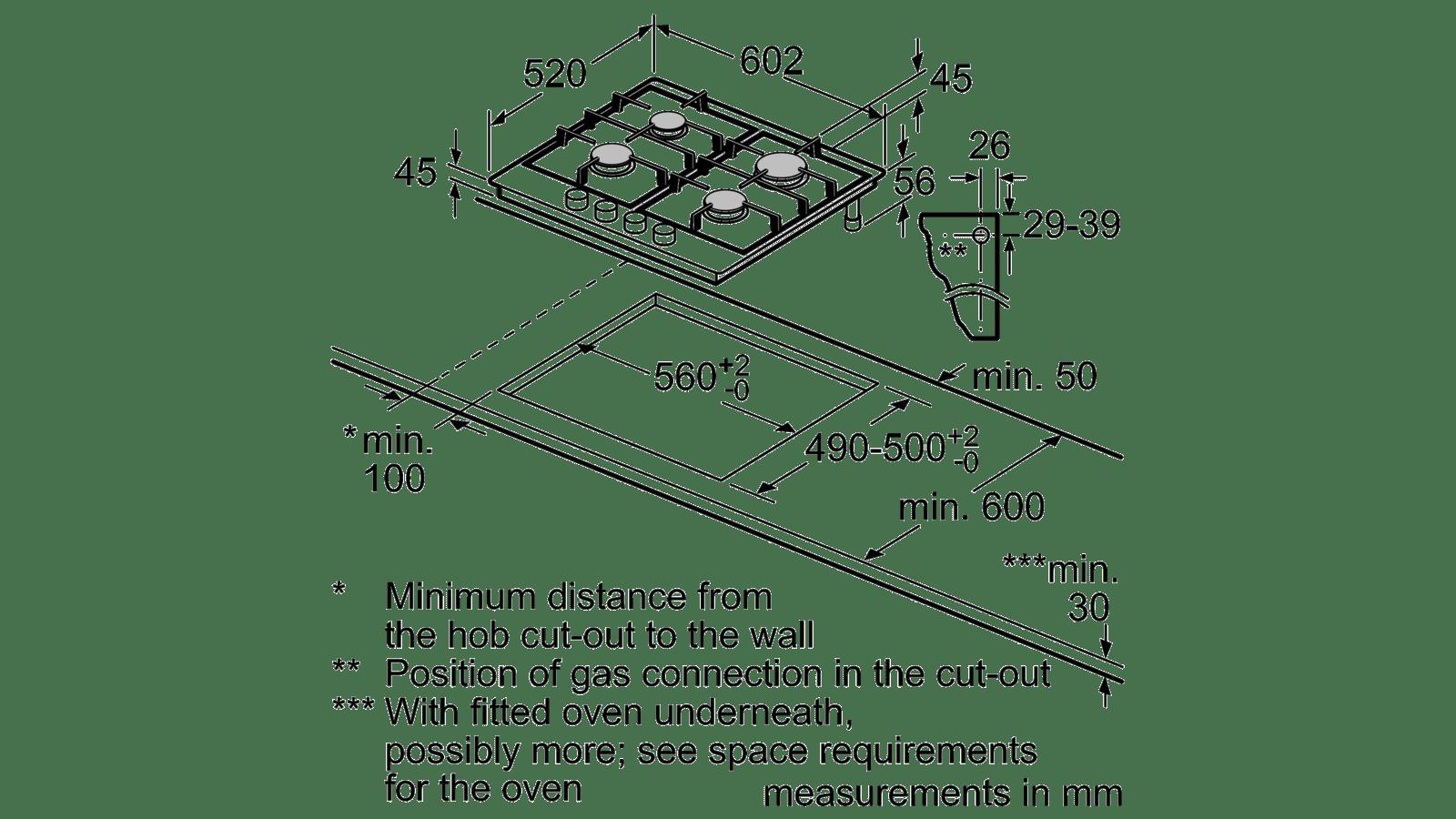 Black Siemens ER6A6PD70 Gas Hob
