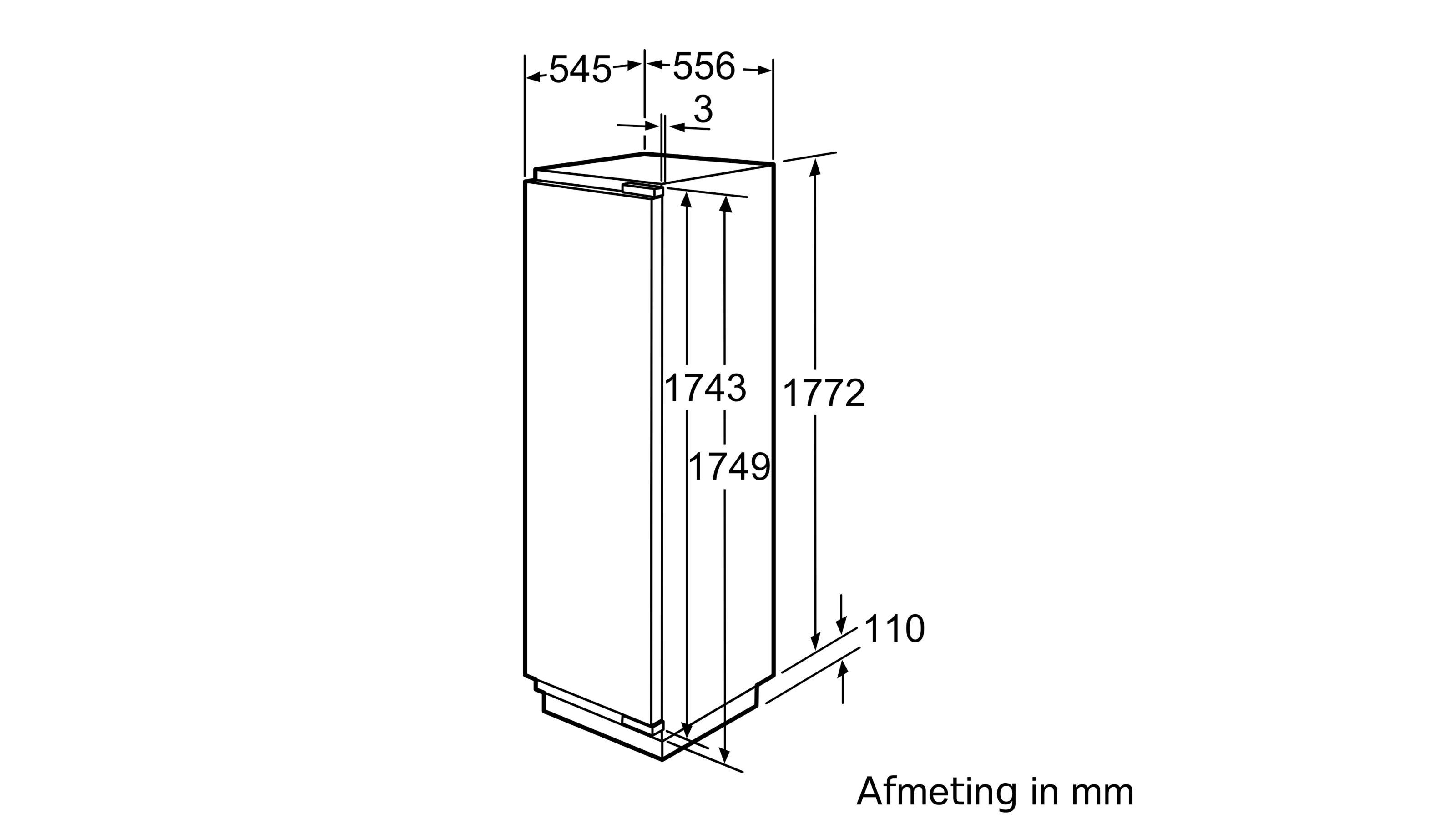 Koelkast - hyperFresh Premium hyperFresh premium 225 l, 77 l verskoelzone 0°C, vaste deur SoftClose, 177,5 cm