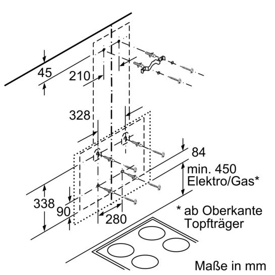 Dunstabzugshaube Montagehöhe schwarz mit glasschirm 90 cm wand esse iq700 lc98ka671 siemens