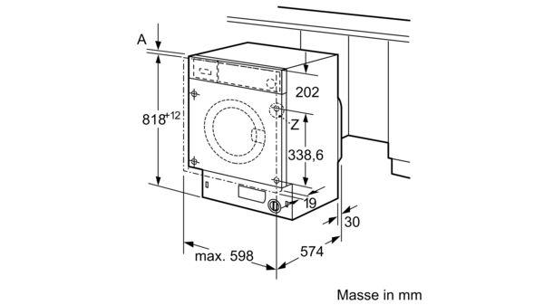 siemens wi14w540eu einbau waschmaschine. Black Bedroom Furniture Sets. Home Design Ideas