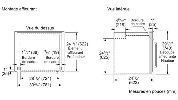 Four Encastrable Simple De 30 Po De La Serie Masterpiecemd Ouverture De Porte Vers La Gauche Med301lws Med301lws Thermador