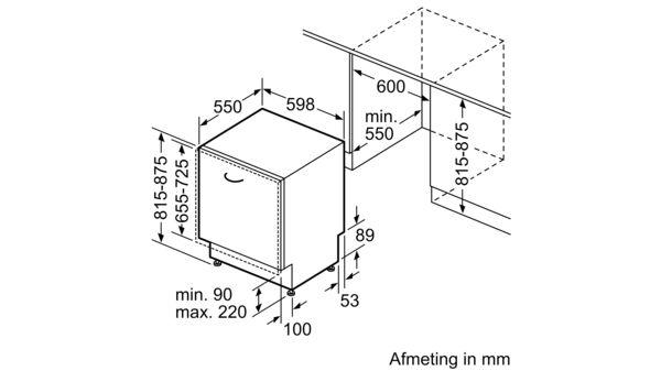 Standaard Afmetingen Inbouw Vaatwasser.Iq300 Volledig Geintegreerde Vaatwasser 60 Cm Sn636x01in