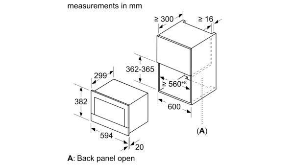iQ700 Lò vi sóng tích hợp 60 x 38 cm BE634LGS1 BE634LGS1-4