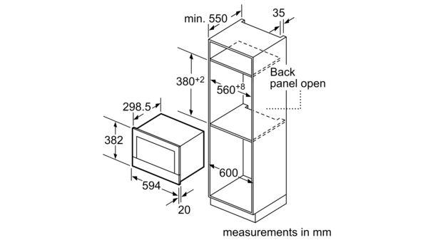 iQ700 Lò vi sóng tích hợp 60 x 38 cm BE634LGS1 BE634LGS1-6