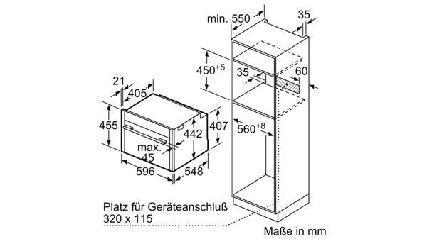 N 90 kompaktna parna peč 60 cm nerjaveče jeklo C15FS22N0 C15FS22N0-10