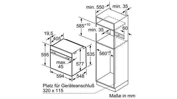 SIEMENS HB634GBS1 Einbau Backofen