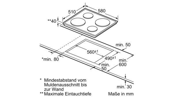 Berühmt SIEMENS - EA125501 - Elektrokochfeld (Gussplatte) BY22