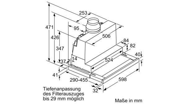 D46ED52X0 Neff DED4652X - Flachschirmhaube 60cm Wahlweise Abluft- od Wie neu