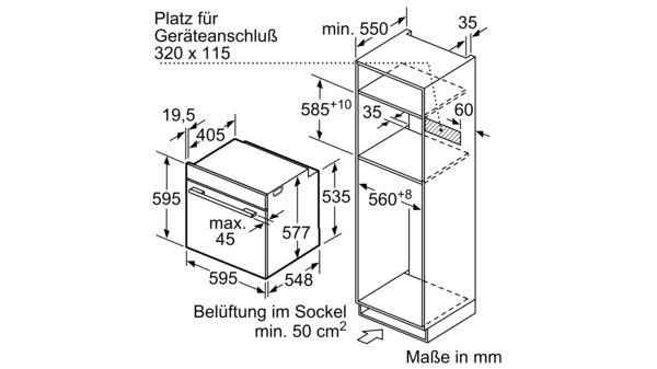 SIEMENS HM633GNS1 Einbau Backofen mit Mikrowellenfunktion