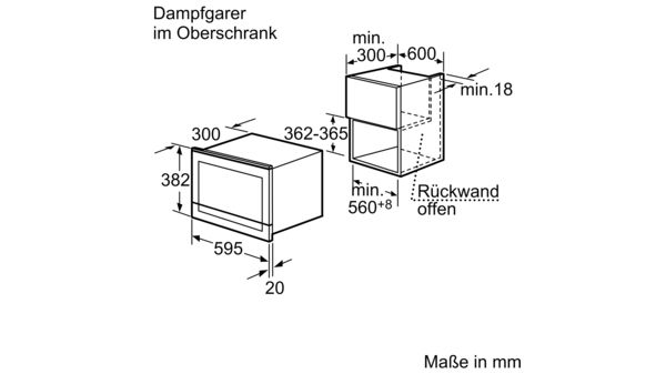 SIEMENS HB25D5L2 Dampfgarer