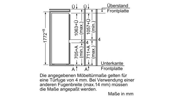 SIEMENS KI34SA65 Einbau Kühl Gefrier Kombination