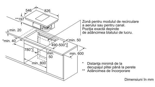 N 90 Plită pe inducție cu sistem de ventilare integrat 80 cm T58TS6BN0 T58TS6BN0-6