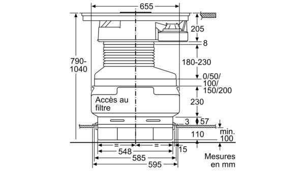 neff t48td1bn0 table de cuisson induction avec hotte. Black Bedroom Furniture Sets. Home Design Ideas
