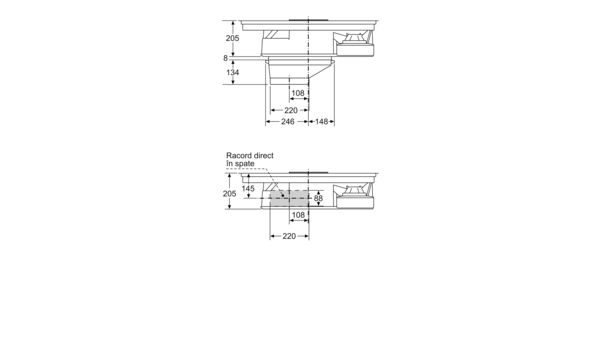 N 90 Plită pe inducție cu sistem de ventilare integrat 80 cm T58TS6BN0 T58TS6BN0-5