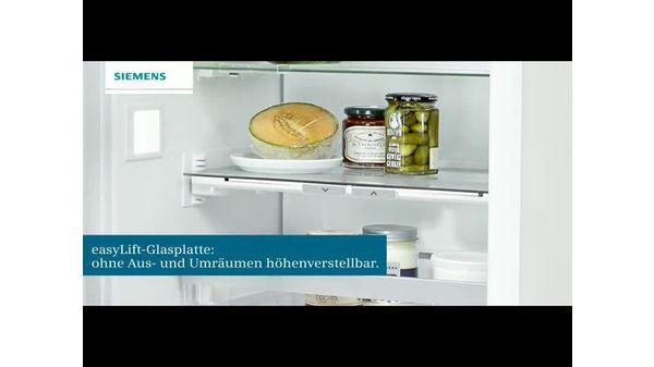 Siemens Kühlschrank Zu Laut : Einbau kühl gefrier kombination flachscharnier technik softeinzug