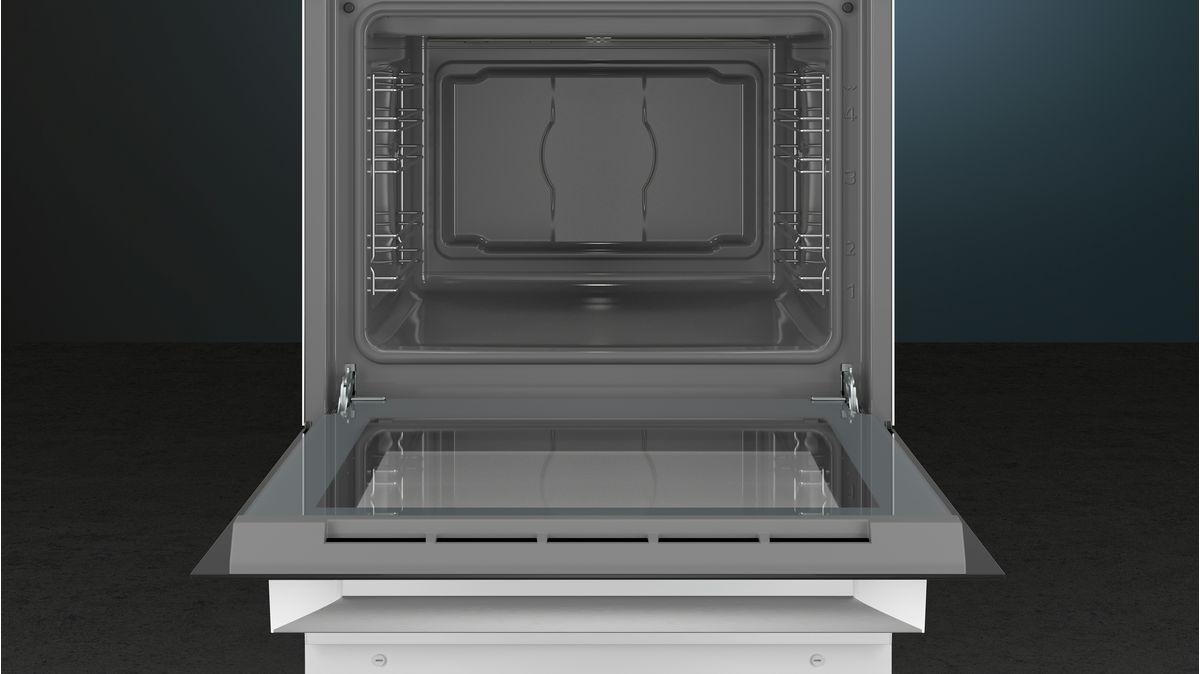 Fornuis Elektrisch GeÎmailleerde kookplaat, conventionele oven