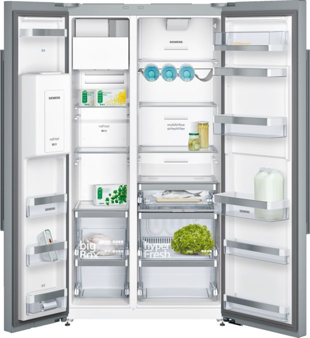 Nofrost Side By Side Refrigerator Staineless Steel Anti Fingerprint