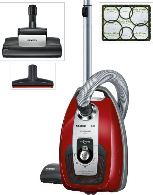 SIEMENS VSQ8PET1 Bagged vacuum cleaner