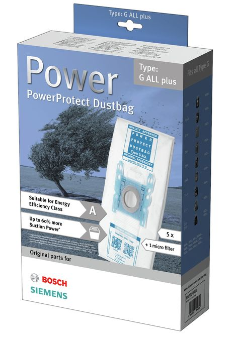 staubsaugerbeutel powerprotect typ g all plus 00577549. Black Bedroom Furniture Sets. Home Design Ideas