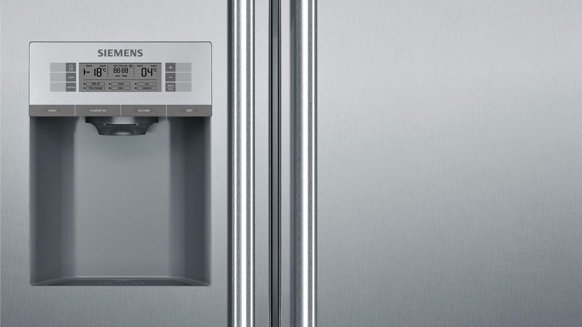 Side By Side Kühlschrank Im Test : Nofrost kühl gefrierkombination side by side türen edelstahl