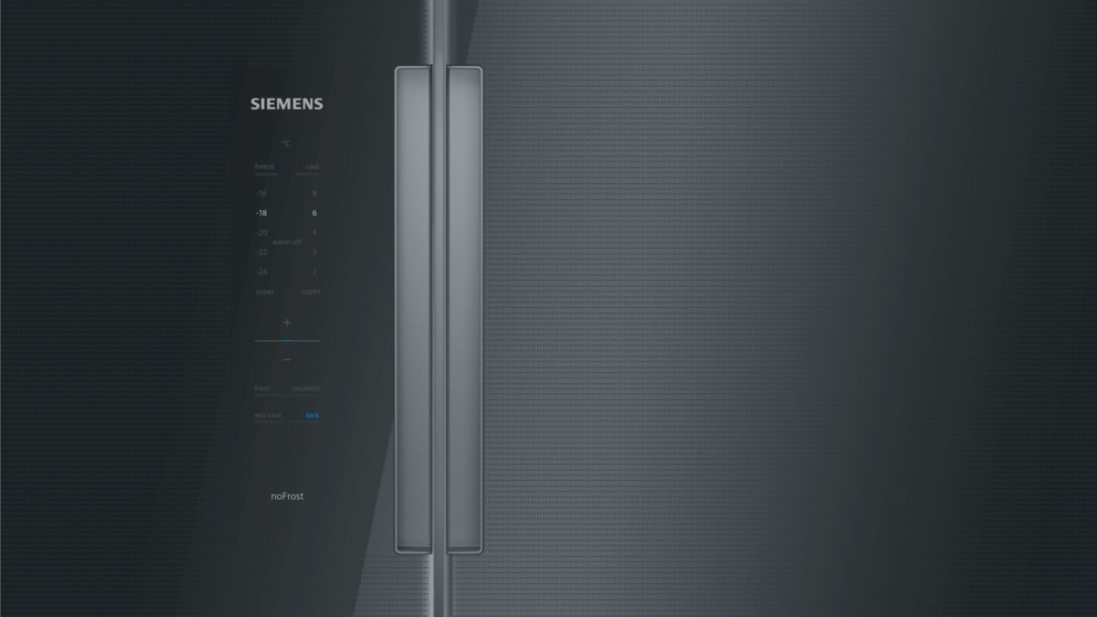 SIEMENS - KA92NLB35 - American side by side, glass door