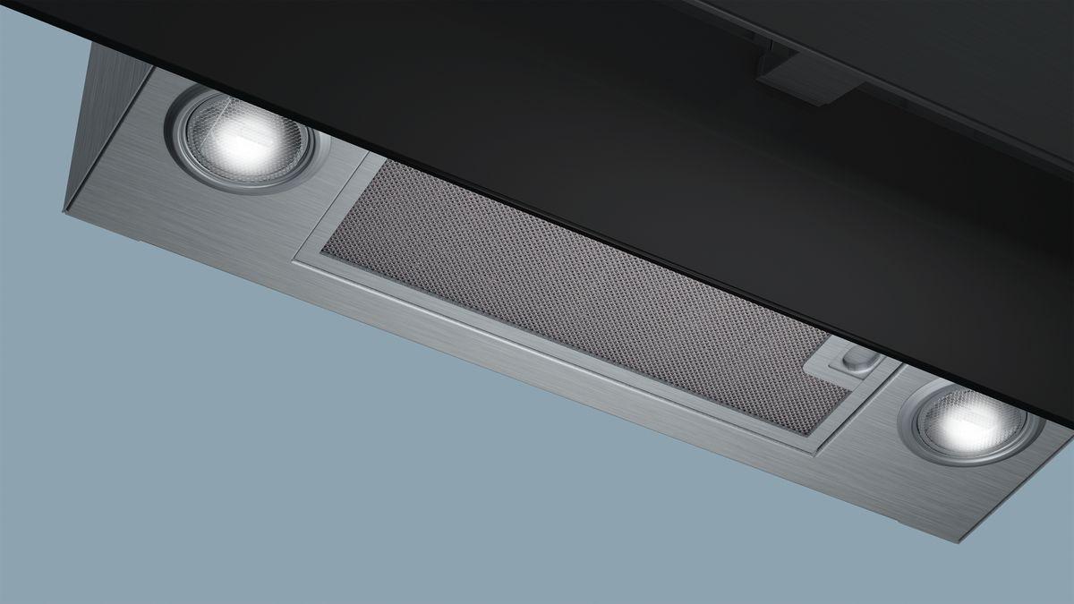 Edelstahl in farbe black inox schwarz mit glasschirm iq700
