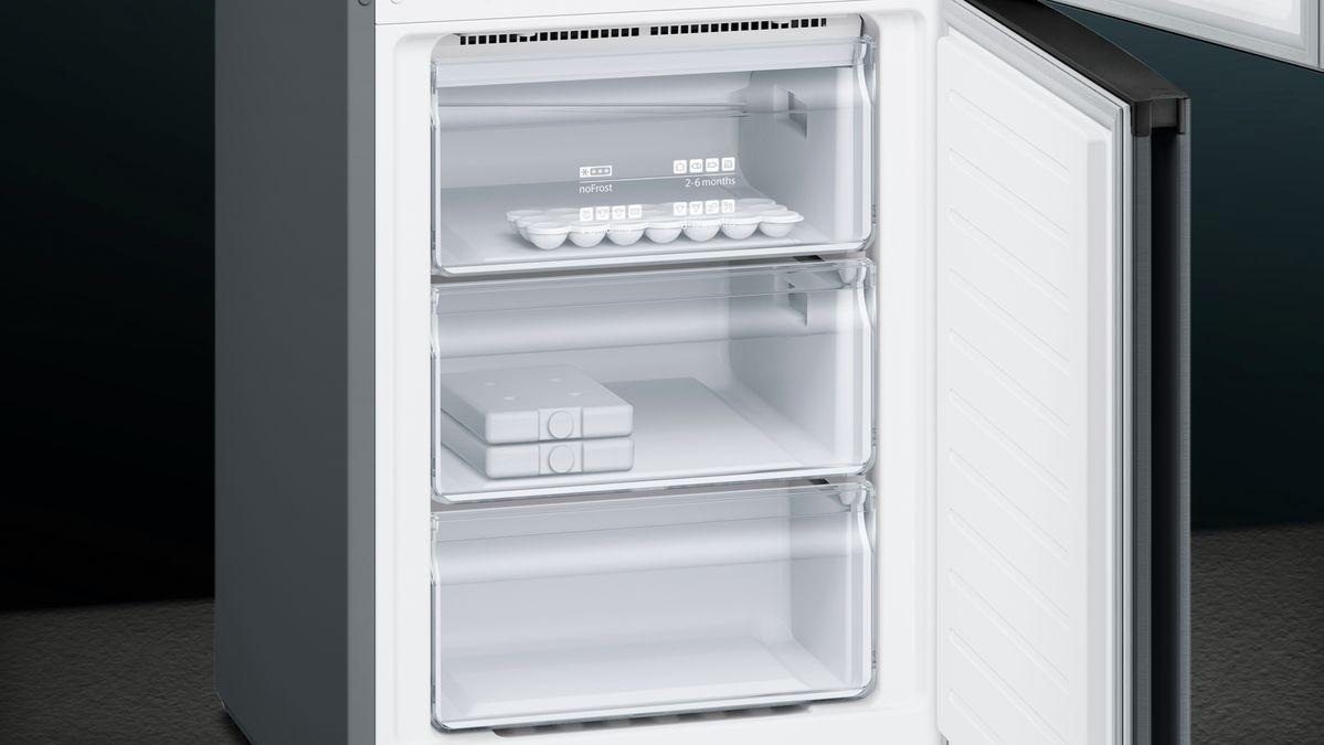 Kühlschrank No Frost Schwarz : Nofrost kühl gefrier kombination türen black inox antifingerprint