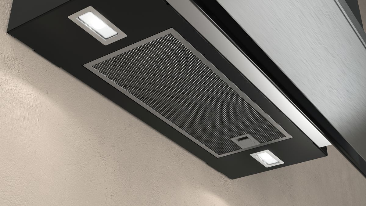 Flat slimline design chimney hood n d frm s b neff