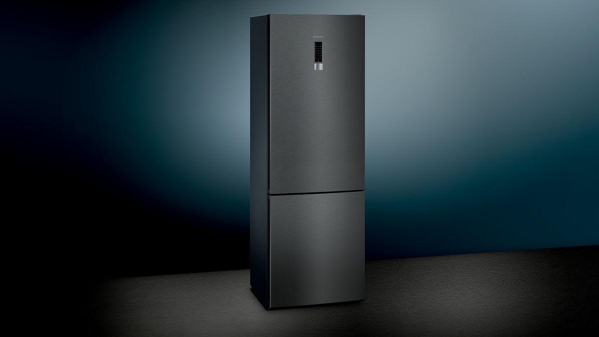 Siemens Kühlschrank Eiswürfelbereiter Bedienungsanleitung : Nofrost kühl gefrier kombination türen black inox antifingerprint