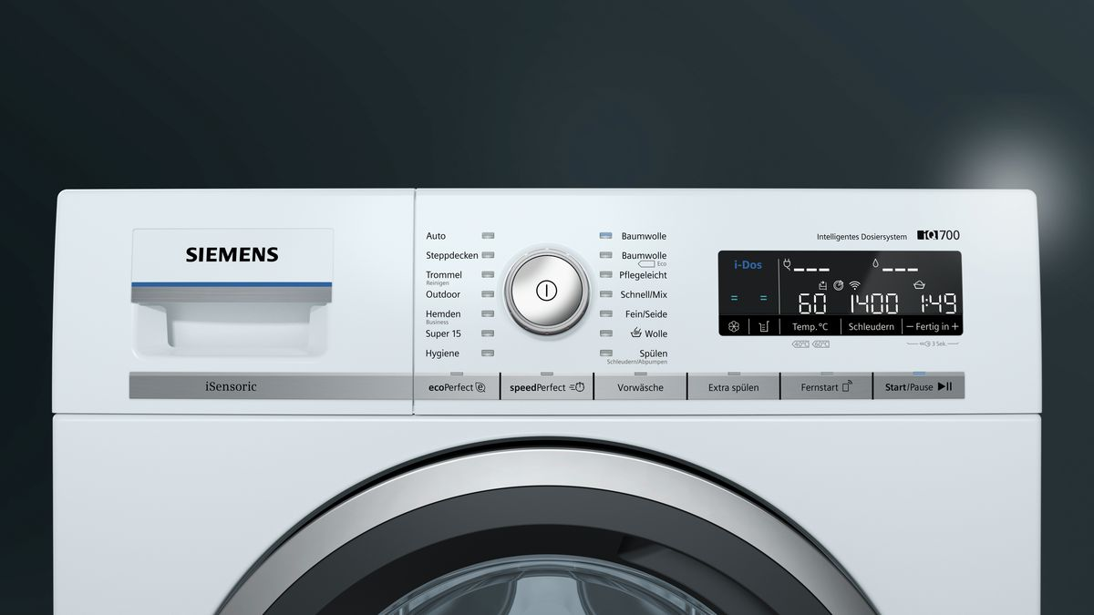Резултат с изображение за SIEMENS Waschmaschine iQ700 WM4WH640 HOME CONNECT