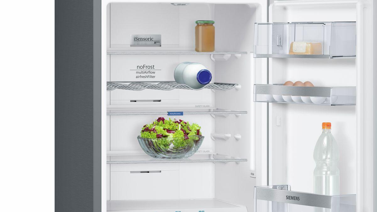 Siemens Kühlschrank Rollen : Nofrost kühl gefrier kombination türen black inox antifingerprint