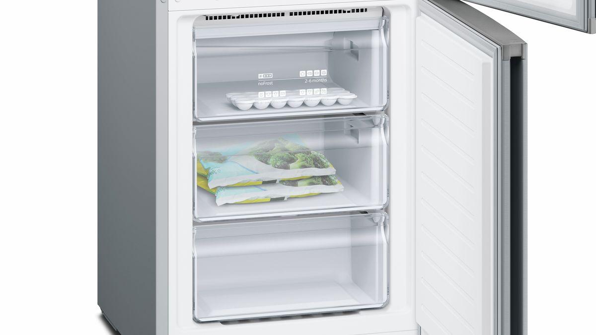 Kleiner Kühlschrank No Frost : Nofrost kühl gefrier kombination türen edelstahl look iq