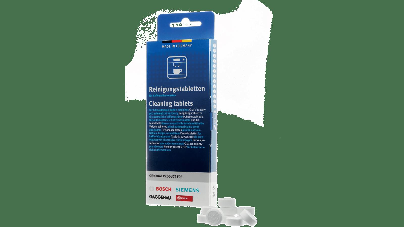 5x Siemens Reinigungstabletten für Kaffeevollautomat 311969 mit Reinigungsbürste