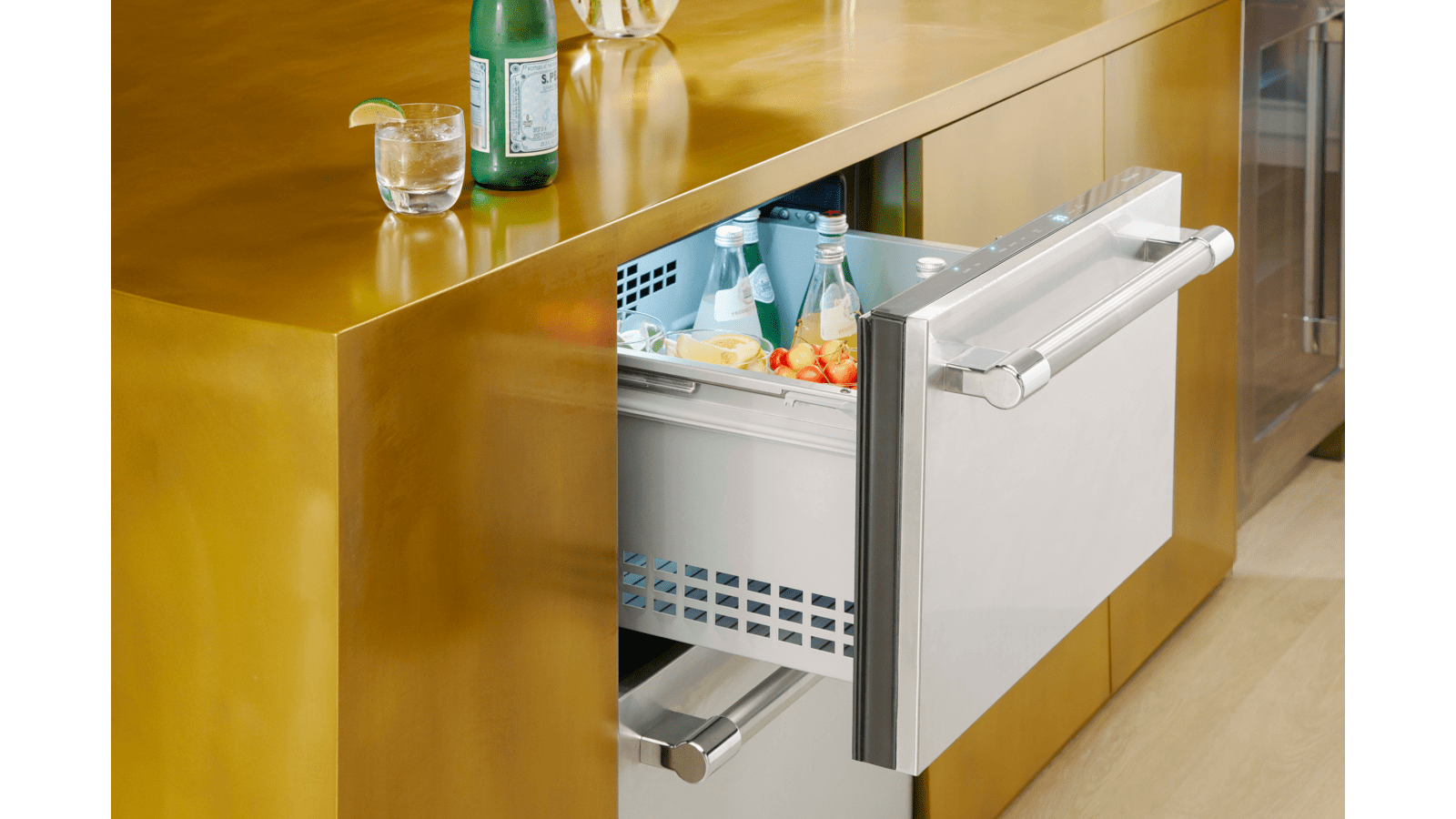 24 Inch Under Counter Double Drawer Refrigerator T24ur920ds Thermador