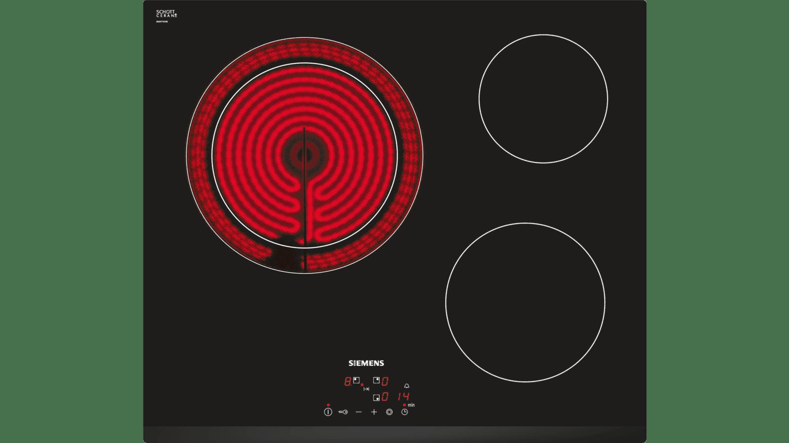 Demonter Plaque De Cuisson Electrique iq300 table électrique 60 cm noir et631bk17e