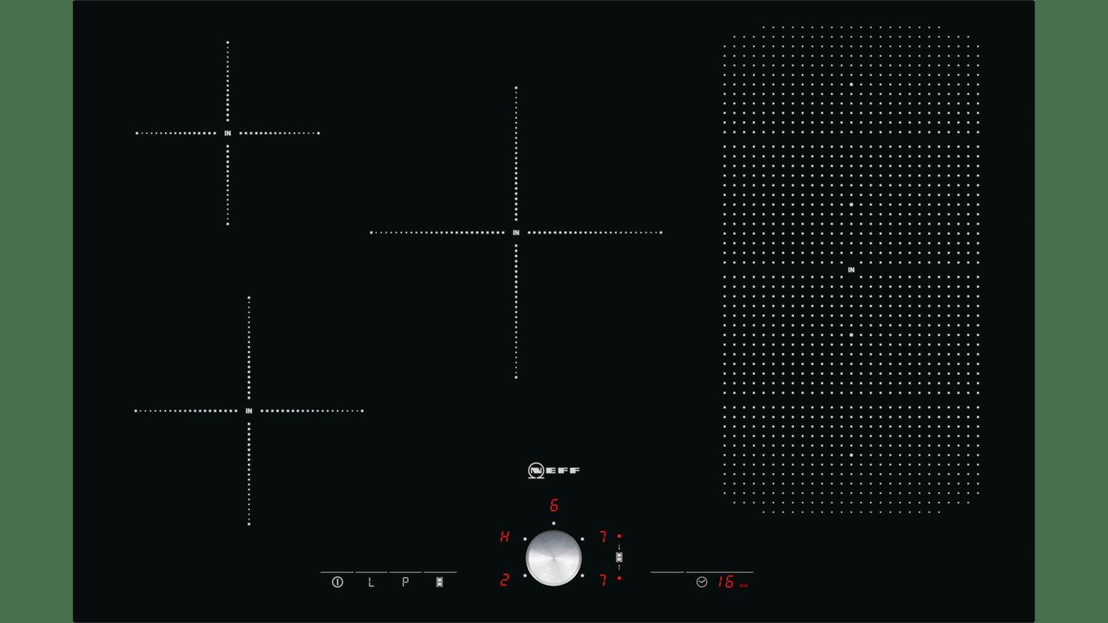 Piano Ad Induzione Consumi neff - t55t86x2 - i - piano inc 80cm vetroceramica