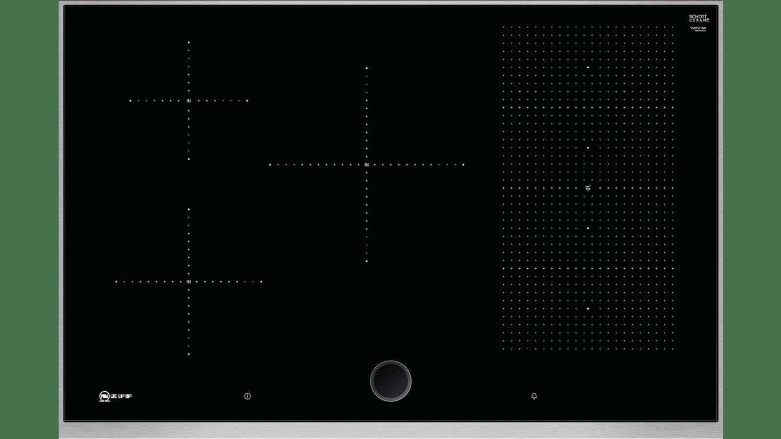 Piano Induzione Neff Flexinduction n 90 piano cottura a induzione 80 cm nero t58ts21n0